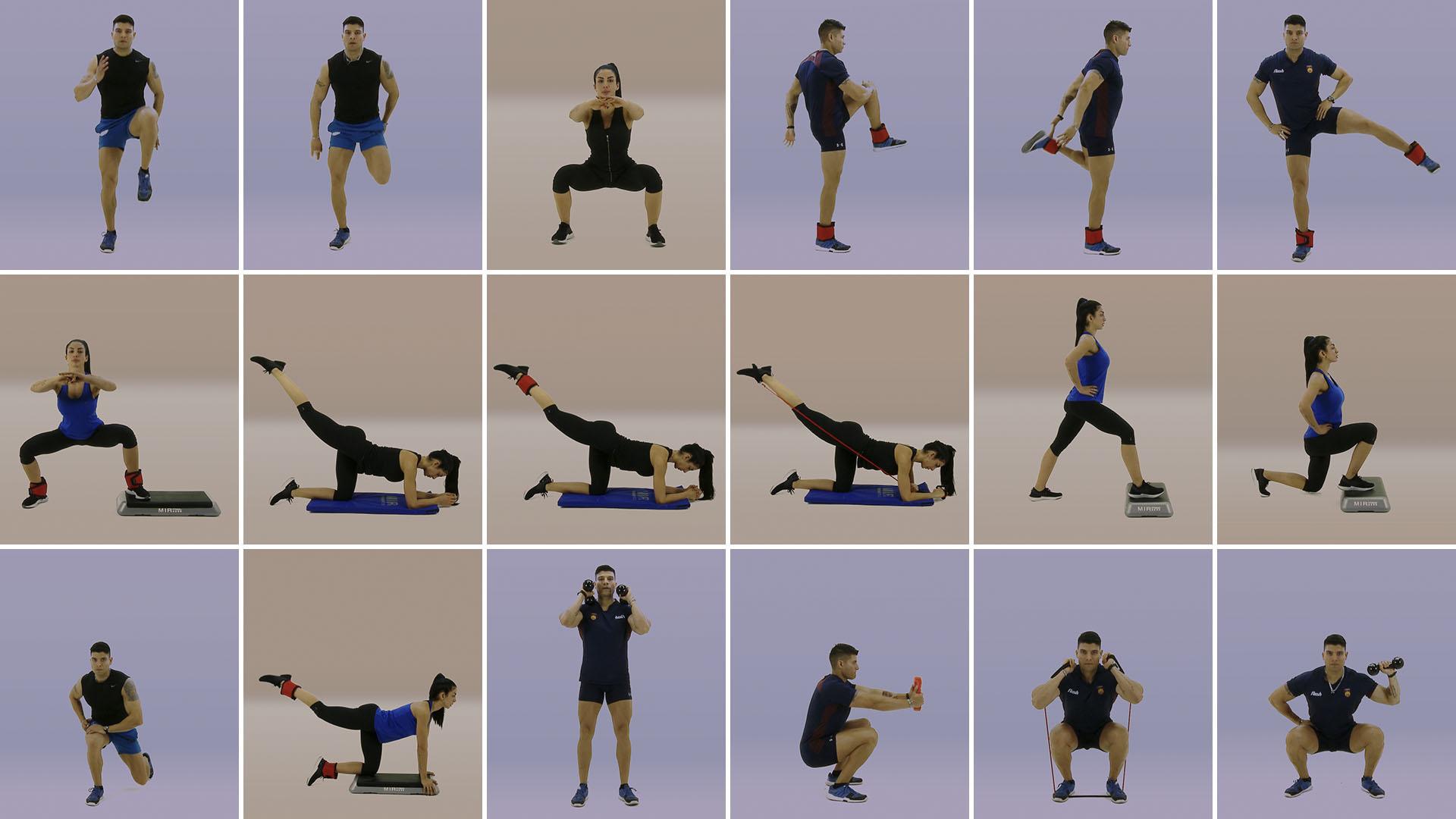 Rutina de ejercicios en casa para gluteos y piernas
