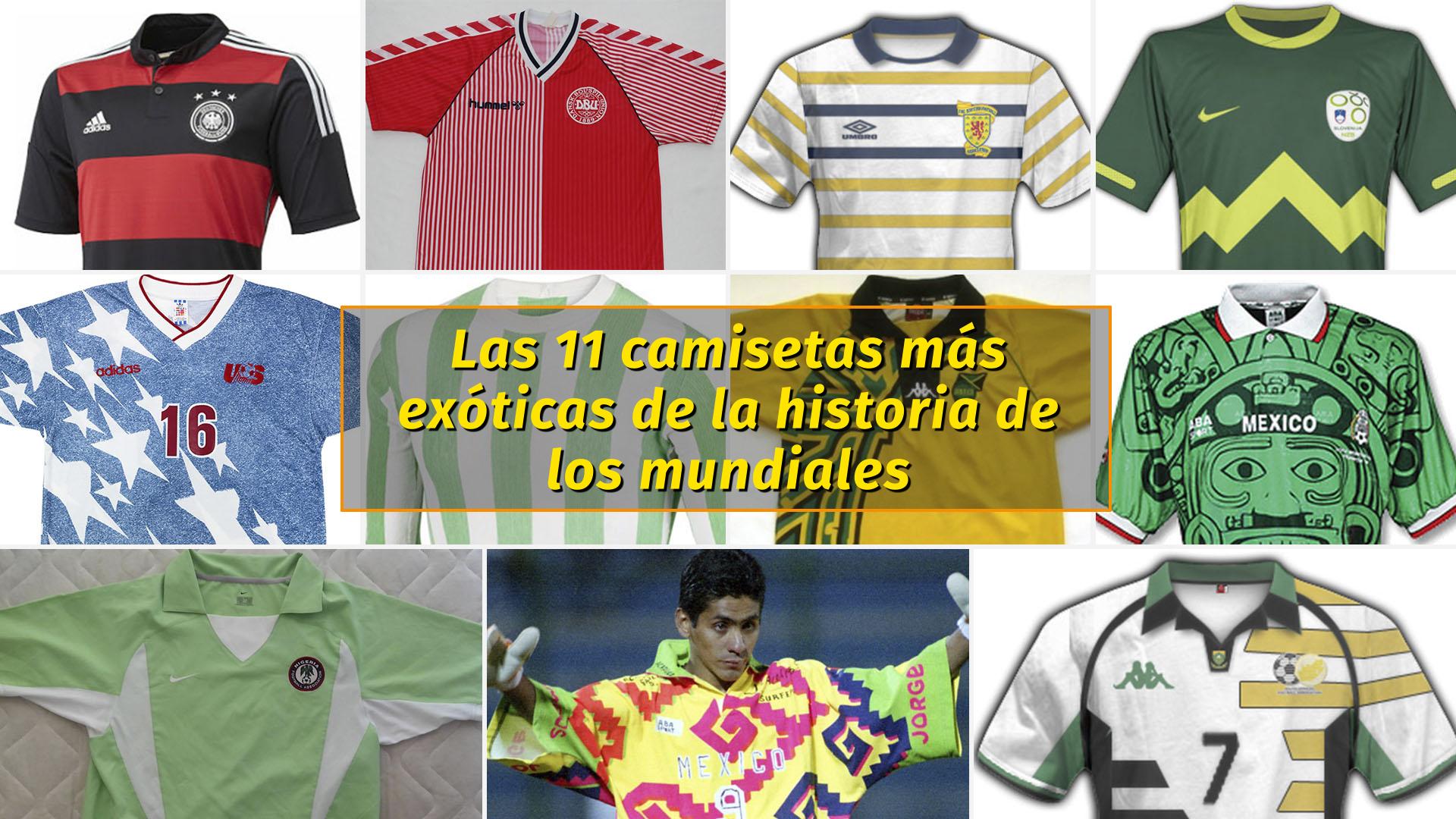 Las 11 camisetas más exóticas de la historia de los mundiales - Infobae 1baf4240b9097