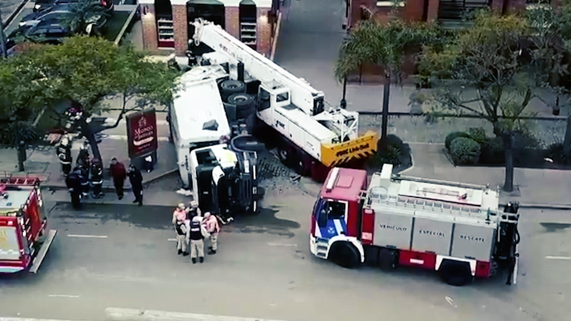 Tragedia en Puerto Madero: una grúa se quedó sin frenos
