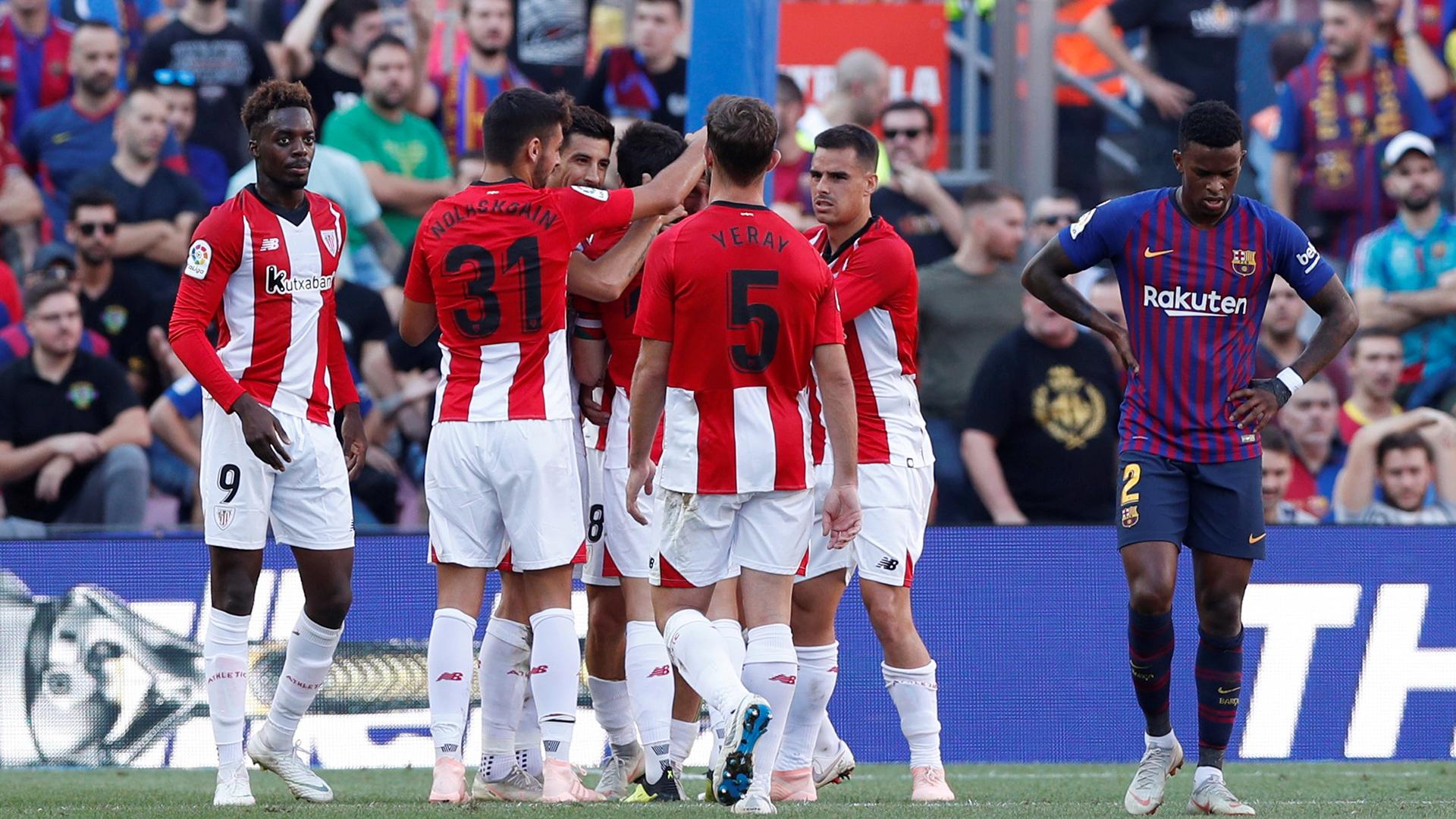 a415dd88f245c Messi le cambió la cara a un Barcelona que apenas empató con Athletic Bilbao  - Infobae